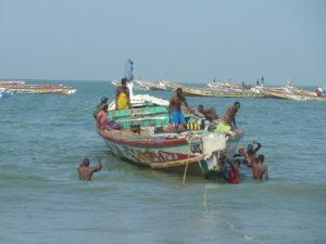 Fiskere i Kafountine